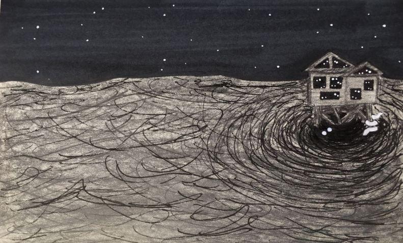 House on whirlpool